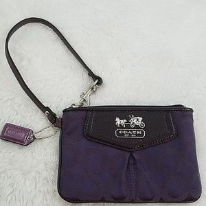 Coach Purple Jacquard Wristlet